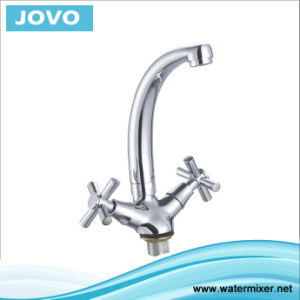 Sanitary Ware Double Handle Kitchen Mixer&Faucet Jv74305 pictures & photos