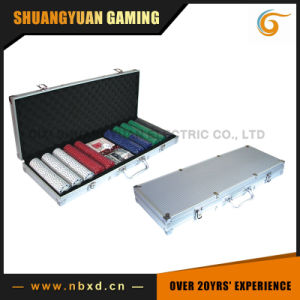 500PCS Poker Chip Set in Square Corner Aluminum Case (SY-S27) pictures & photos