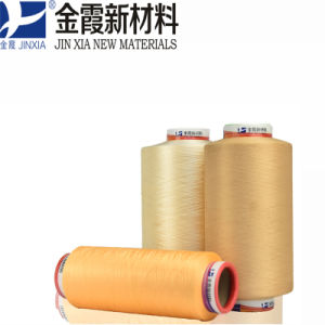 100% Polyester Filament Yarn 75D/48f DTY Dope Dyed pictures & photos