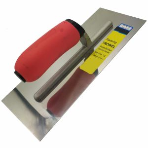 "Stainless Steel Plastering Trowel 11"" Soft Red Handle FT20 pictures & photos"