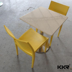 Kingkonree High Quality Modern Chairs Solid Surface Dinner Table pictures & photos