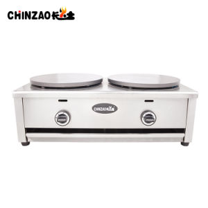 Stainless Steel Commercial Double LPG Gas Crepe Machine pictures & photos