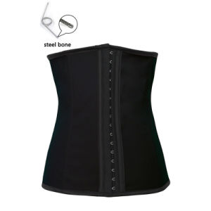 Women Latex Sexy Club Wear PVC Leather Waist Training Underbust Cincher Corset Lingerie pictures & photos