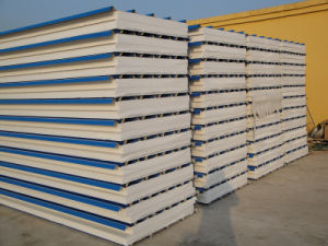 Sea Blue EPS Sandwich Insulated Waterproof Board for Prefab House/for Wall /for Roof pictures & photos