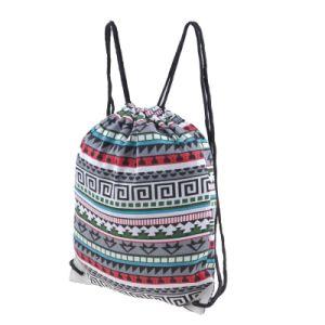 New Fashion Ladies Canvas Gymsack Drawstring Sport Bag pictures & photos