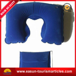 Cheap Inflatable Airline Non-Woven Ultrasonic Neck Pillow pictures & photos