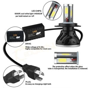 News G20 80W 8000lm H4 H7 H11 9005 9006 12V 24V Auto Car LED Headlight pictures & photos