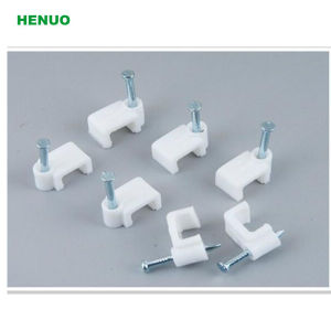 High Quality Electrical Wire Square and Circle Nail Cable Clips Quality pictures & photos