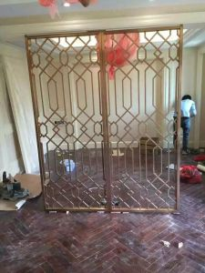 Antique Copper Metal Screen Color Decorative Stainless Steel Room Divider