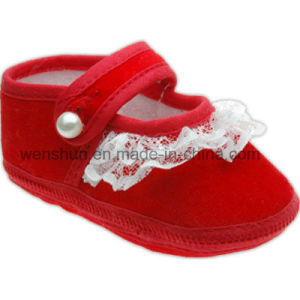 with Lace on The Collarband Baby Shoes 208 pictures & photos
