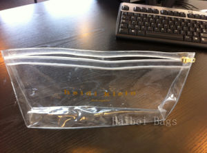 Non-Toxic Clear Plastic Zipper PVC Bag (HBPV-59) pictures & photos