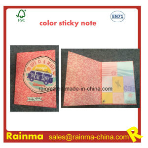 Color Print Sticky Notebook with OEM Design pictures & photos