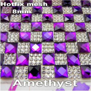 Shinning Rhinestone Sheet 24 Lines Rhinstone Mesh Trimming (TM-238 /24*40cm) pictures & photos