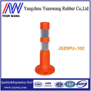 Orange Flexible Plastic Warning Post for Traffic