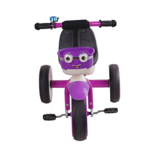 Purple Color Kids Tricycle Bike with Basket pictures & photos
