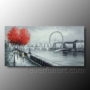 Hand Painted Canvas Art Landscape Oil Painting on Canvas (KVL-143) pictures & photos