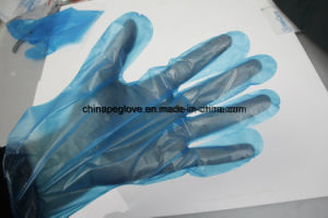 Disposable Poly Gloves Color Blue by Used Mcdonald Restaurant pictures & photos