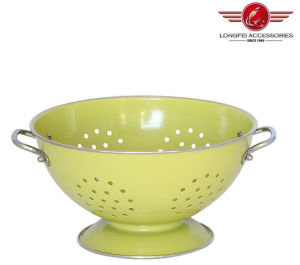 Metal Round High Quality Fruit Basket Bowls with Colorful Painting pictures & photos