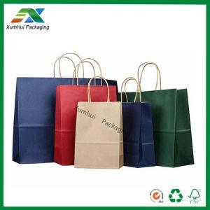 Customized Logo Colorful Kraft Brown Reusable Paper Bag for Garment