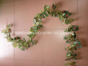 Factory Hot Sale Artificial Fake Synthetic Hang Rattan Leaves pictures & photos