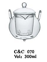 High Quality Borosilicate Fire Resistant Glass Teapot with Tea Infuser
