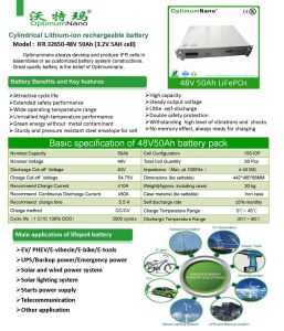 Deep Cycle 48V 50ah LiFePO4 Battery Packs for Telecom Communication pictures & photos