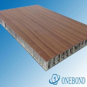 Wood Color Aluminium Honeycomb Panel pictures & photos