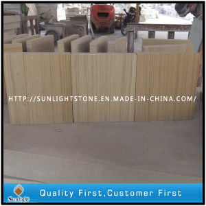 Yellow Wood Grain Sandstone for Paving Tiles pictures & photos
