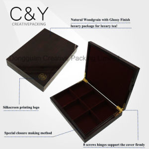 12 Compartments Wooden Tea Bags Packaging Box with Glass Window pictures & photos