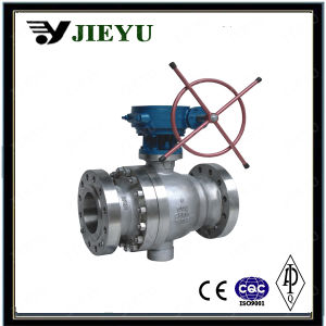 Stainless Steel Trunnion Mounted Flange Ball Valve pictures & photos