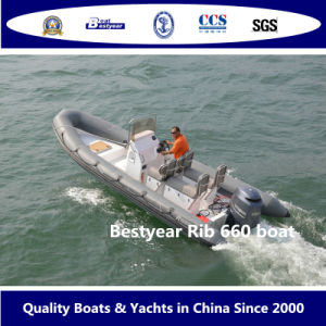 Rigid Hull Inflatable Boat (RIB660) pictures & photos
