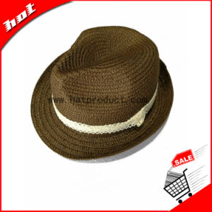 Paper Straw Fedora Woman Hat pictures & photos