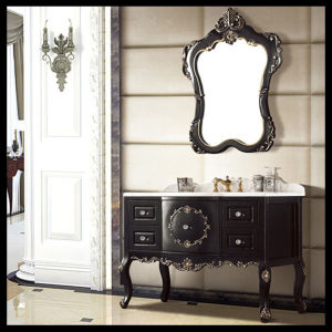 High Quality Single Basin Bathroom Mirror Vanity Cabinet