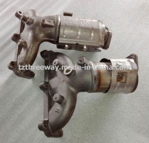 Manifold Exhaust Catalytic Converter Suitable for Sante Fe Gasoline pictures & photos