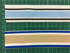 Polyester Double Color Woven Elastic Tape for Underwear Ym-111 pictures & photos