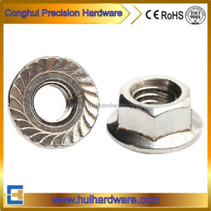Stainless Steel 304 316 Hex Flange Nut with Serration pictures & photos