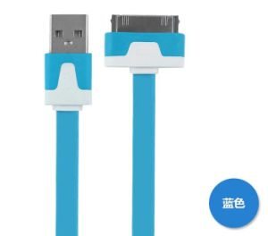 Flat Noodle Cable for iPhone 4 pictures & photos
