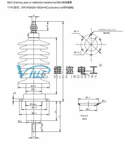 35kv Bushing Used on Distribution Transformer (Conductive rod) pictures & photos
