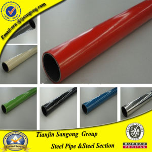 Weld Steel Pipe with Colorful Plastic Coated pictures & photos