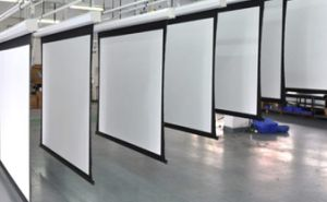 3D Perforated Silver Screen with Black Border with Evelet