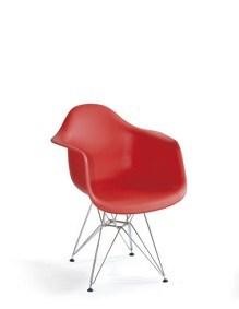Modern Dinng Room Hotel Plastic Metal Cafe Chair (WLF-DC061)