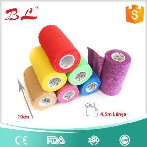 Wound Dressing Tape Bandage, Sport Elastic Bandage, Latex Free Non Woven Cohesive Bandage pictures & photos