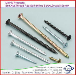 Customized Steel Black Coated Wood Screw Self Tapping Screw Drywall Screw pictures & photos