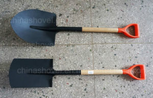 Peru Types PVC Grip Wood Handle Shovel pictures & photos