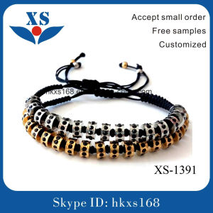 High Quality Classic Mens 316L Stainless Steel Handmade Beaded Bracelets pictures & photos