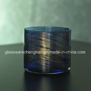 Swirl Finish Glass Candle Holder (ZT-074) pictures & photos