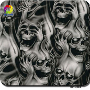Tsautop 0.5m Width Skull Flame Zombie Hydrographic Dipping Water Transfer Printing Film pictures & photos