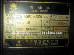 JAC Truck Engine Weichai (Wd615.46 Dh615 Q1324*01) pictures & photos
