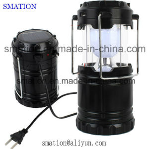Recharge USB Rechargeable Battery LED Torch Flashlight Solar Camping Lantern pictures & photos