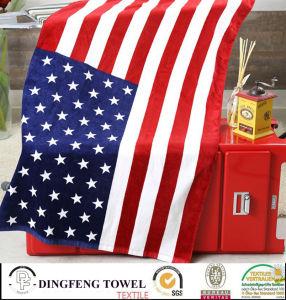 100% Cotton Velour Reactive Printed Beach Towel Df-2997 pictures & photos